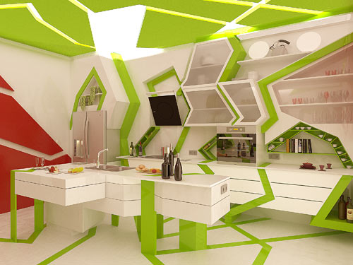 Cubism in the Kitchen by Gemelli Design Studio in interior design architecture  Category