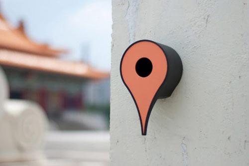 Google Maps Inspired Birdhouse Tells Birds Where Home Is
