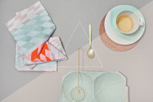 Colorful Geometric Tea Towels by Studio Mae Engelgeer in main home furnishings  Category