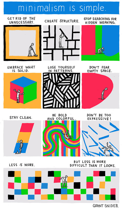 Minimalism is Simple, According to Grant Snider