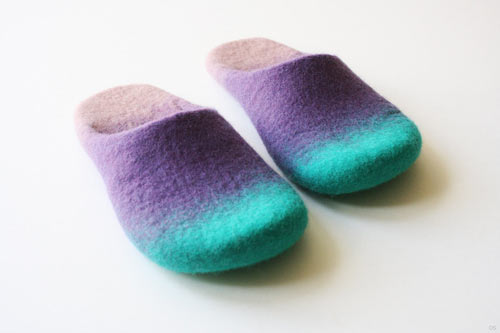 Wool Felted Slippers by Onstail in style fashion  Category