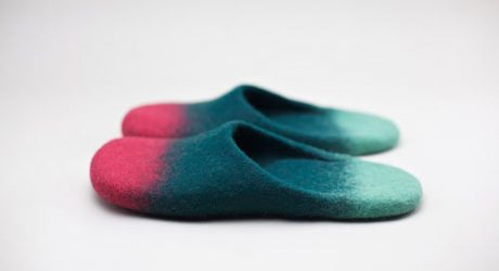 Wool Felted Slippers by Onstail
