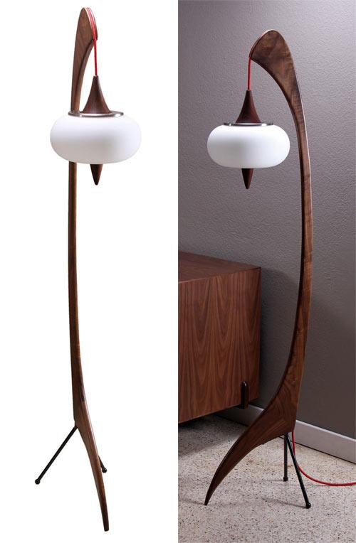 Sculptural floor lamp by zurn design design milk the floor aloadofball Image collections