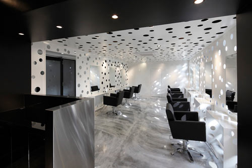 Perforated Beauty Salon by Yasunari Tsukada Design in main interior design architecture  Category