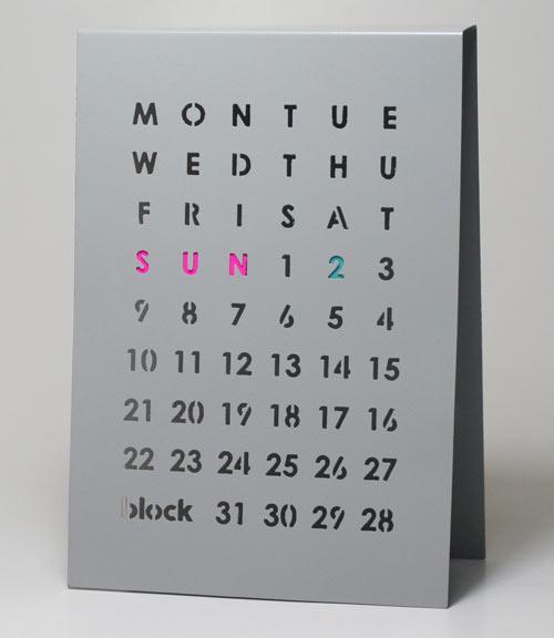 Perpetual Calendar by Block - Design Milk