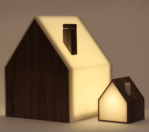 Charming Good Night Lamp: A Family Of House Shaped Lamps