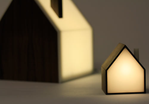 Good Night Lamp: A Family of House-Shaped Lamps - Design Milk