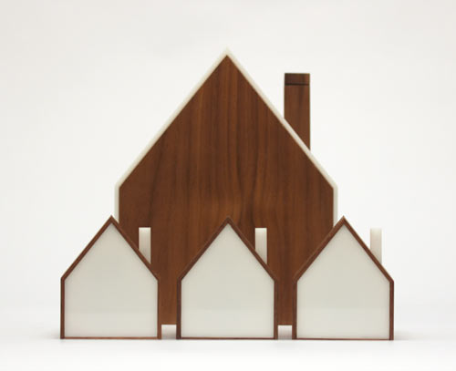 Good Night Lamp: A Family of House Shaped Lamps in technology main home furnishings  Category