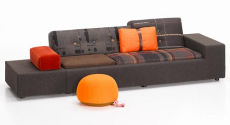 Limited Edition Maharam Polder Sofa by Hella Jongerius for Vitra