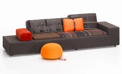 Limited Edition Maharam Polder Sofa by Hella Jongerius for Vitra