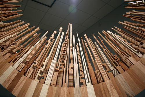 Spectacular Wood Sculptures: The City Series by McNabb & Co.