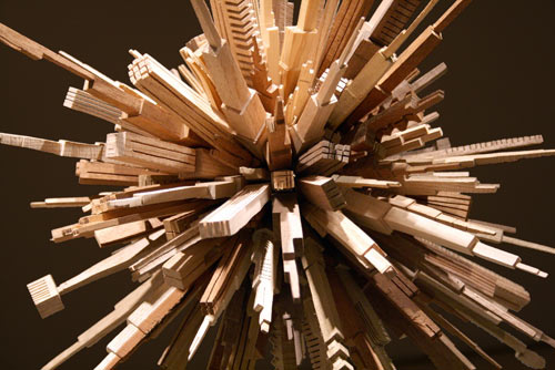 Spectacular Wood Sculptures: The City Series by McNabb & Co. in main home furnishings art  Category