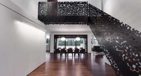 Spectacular Staircase: Iron Lace Project by Gestion René Desjardins