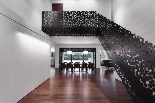 Elegant Spectacular Staircase: Iron Lace Project By Gestion René Desjardins ... Great Ideas