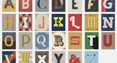 Prints Inspired by Vintage Type by Red Headed Mess