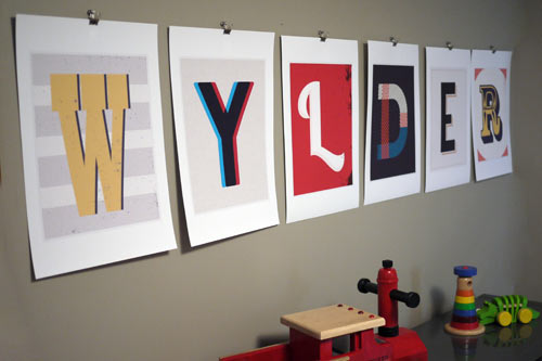 Prints Inspired by Vintage Type by Red Headed Mess in main art  Category