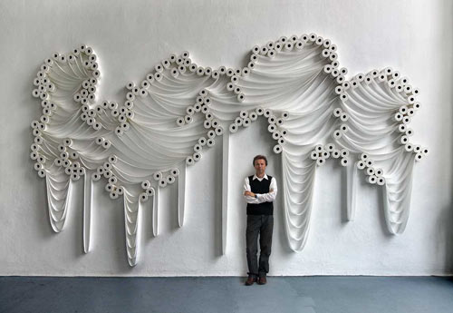 Sakir Gökçebag   Installations Made Out of Toilet Paper in art  Category