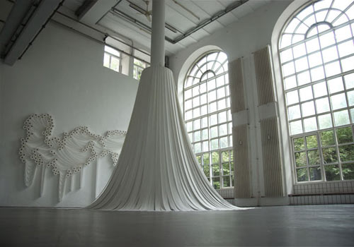 Sakir Gökçebag   Installations Made Out of Toilet Paper in main art  Category