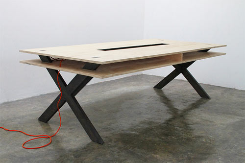 Perfect for Coworking: Work Table 002 by Miguel de la Garza ...