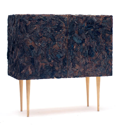 Accumulation: A Cabinet Covered in Bark by Xerock Kim