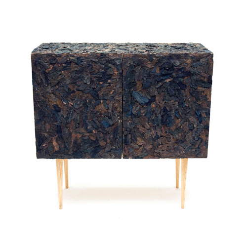 Accumulation: A Cabinet Covered in Bark by Xerock Kim in main home furnishings  Category