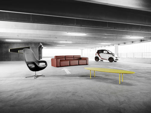 BoConcept Partners with smart on Furniture Collection and smart fortwo