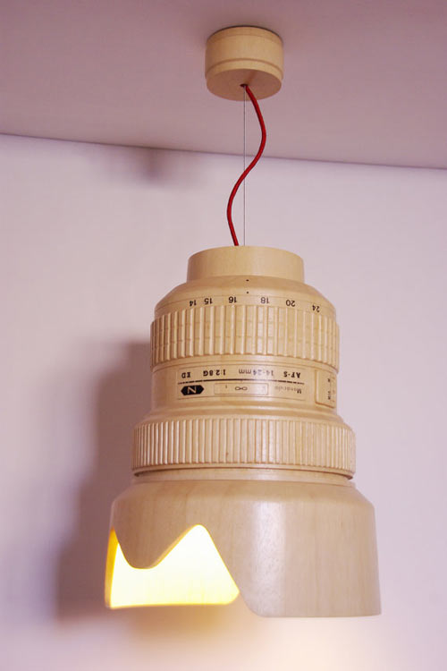 Strike A Pose Under This Camera Lens Hanging Lamp by Monoculo Design Studio in technology main home furnishings  Category