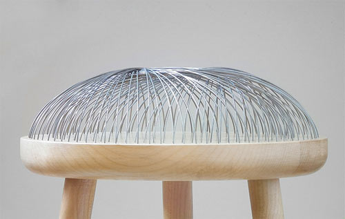Sitting on Air: Dome Stool by Toer