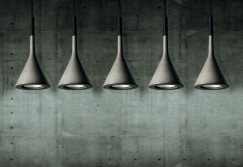 Foscarini's Concrete Aplomb Pendant Lamp