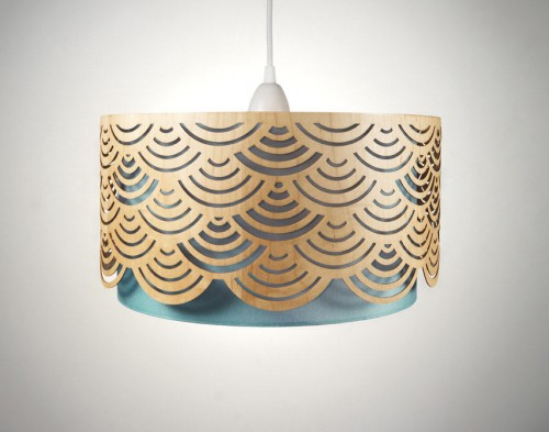 Laser Cut Wooden Lampshades in main home furnishings  Category