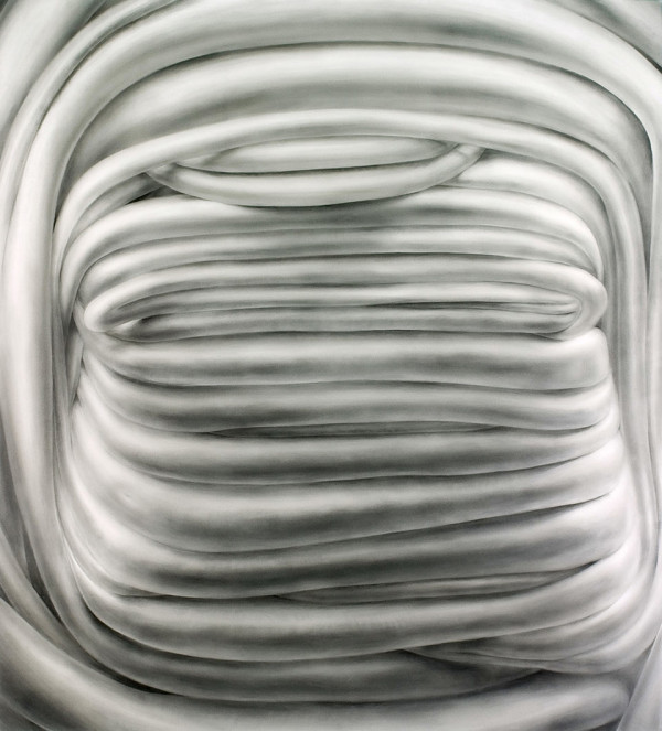 "Munter, powdered graphite on mylar, 40"" x 36"", 2010"