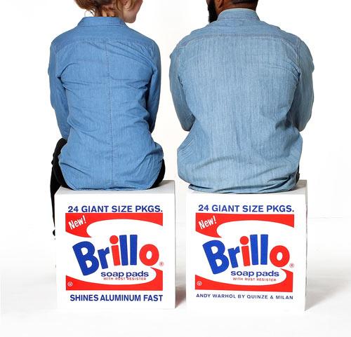Andy Warhol Brillo Box Pouf