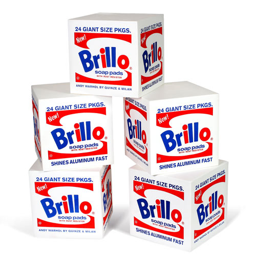 Andy Warhol Brillo Box Pouf in main home furnishings art  Category