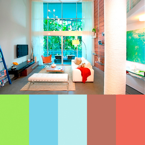 Zippy color palettes from dkor interiors design milk for Home decor color palettes