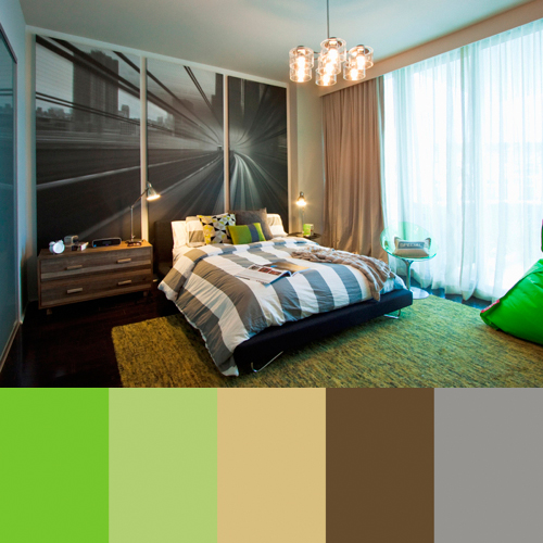 Bedroom at the Bath Club, Miami Beach, Florida