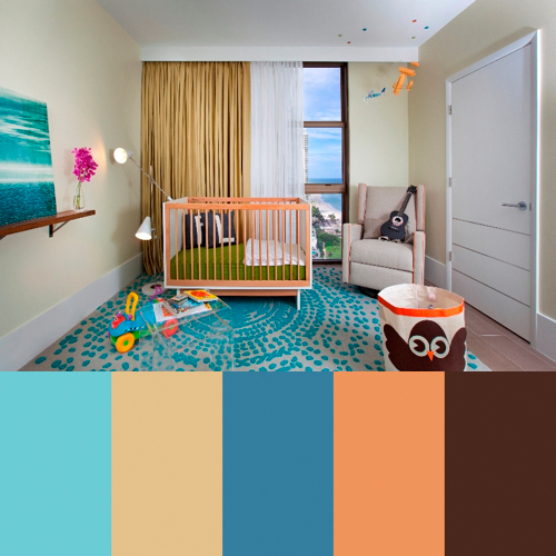Color Palette Interior Design zippy color palettes from dkor interiors - design milk