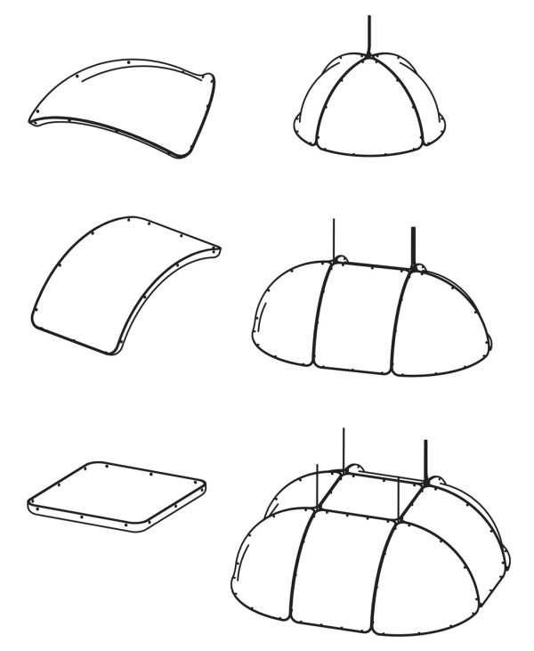 Hood Modular Pendant by Form Us With Love in main home furnishings  Category