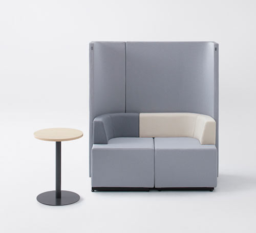 Bracket: A High Back Sofa System by nendo for KOKUYO
