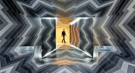 Pulsate: A Dizzying Tile Installation by Lily Jencks and Nathanael Dorent