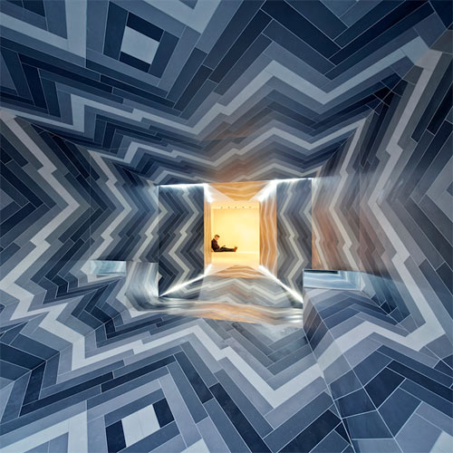 Pulsate: A Dizzying Tile Installation by Lily Jencks and Nathanael Dorent in main interior design art  Category