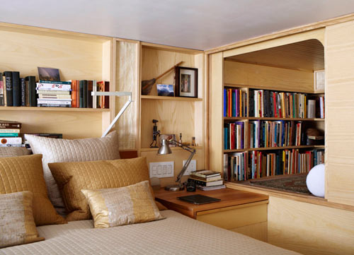 apartment inside poor. A nook creates a cubby like library to crawl into  Tiny NYC Apartment Renovation Full of Nooks and Cubbies Design Milk