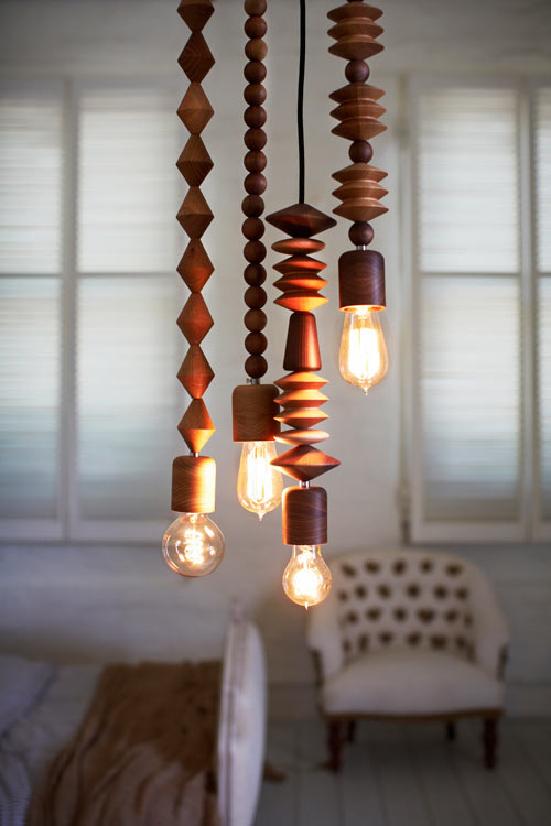 Bright Beads Wooden Lamps by Marz Designs in main home furnishings  Category