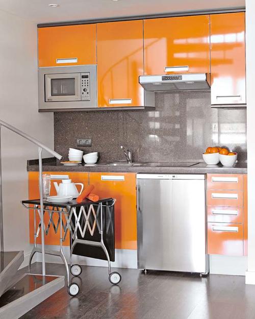 inspiring bright color kitchen design   Interior Inspiration: 12 Kitchens with Color - Design Milk