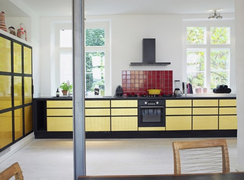 Interior Inspiration: 12 Kitchens with Color in main interior design  Category