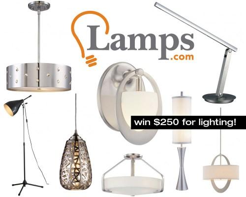 Lamps.com $250 Lighting Giveaway
