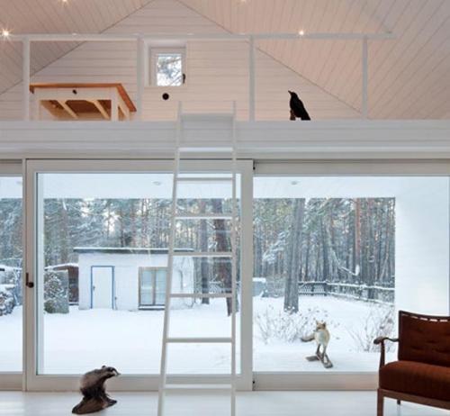 loft-mezz-Wooden-cabin-by-Atelier-St