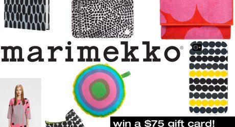 Marimekko $75 Gift Card Giveaway!