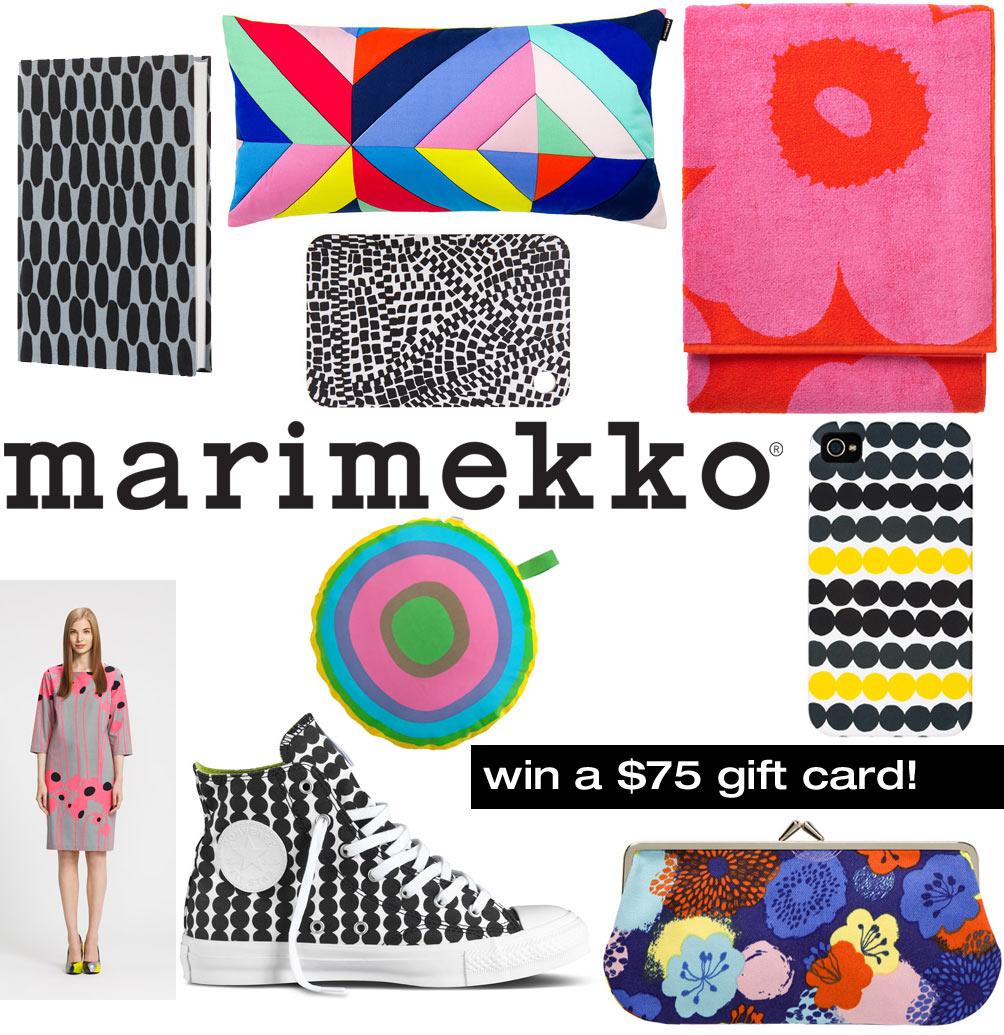 marimekko 75 gift card giveaway design milk