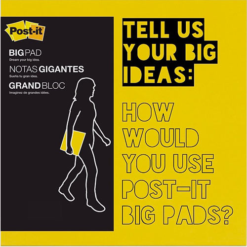Hooray for big ideas post it big pads design milk for Design ideas facebook