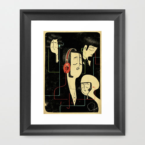 s6-music-connects-people-print-framed